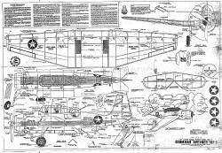 Grumman TBF-1 Avenger model airplane plan