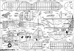 Grumman F3F-1 Palanek model airplane plan