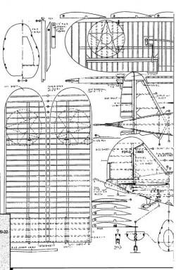 Grumman F3F 1 model airplane plan