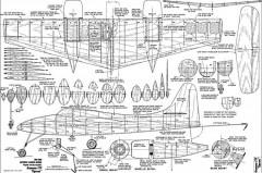 Grumman F7F Tigercat model airplane plan