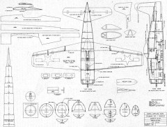 Grumman F8F Bearcat model airplane plan