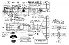 Grumman FF-1GE 17in model airplane plan