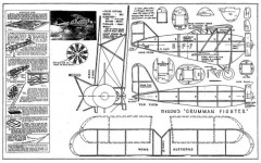 Grumman FF Fighter 12in model airplane plan