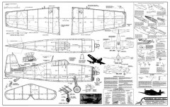 Grumman Hellcat 24in Comet model airplane plan