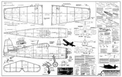 Grumman Hellcat 24in Comet model airplane plan