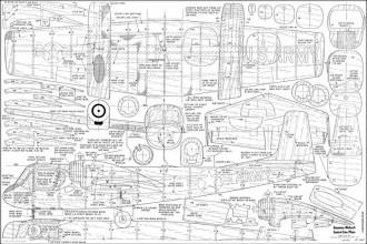 Grumman Mohawk UC model airplane plan
