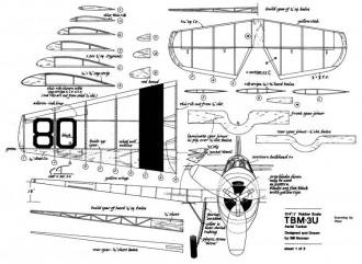 Grumman TBM-3U model airplane plan