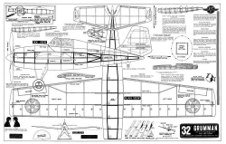 Grumman Wildcat 32in Joe Ott model airplane plan