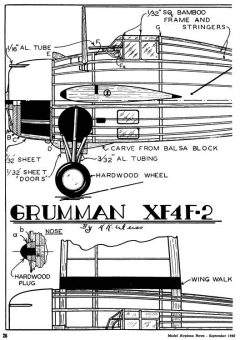 Grumman XF4F-2 p1 model airplane plan