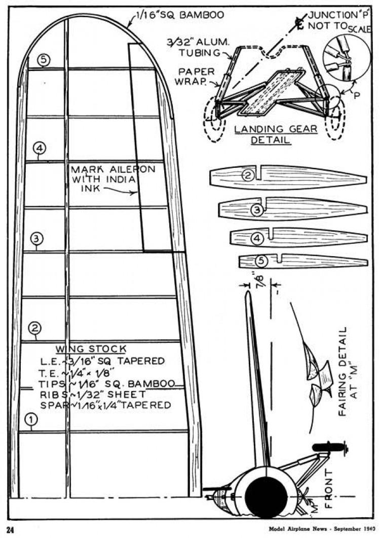 Grumman XF4F-2 p3 model airplane plan
