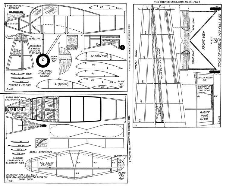 GuilleminJG10 model airplane plan