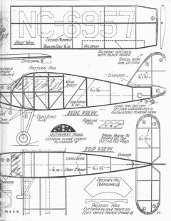 Guillow Bellanca Skyrocket F-51 model airplane plan