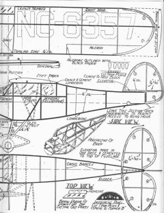 Guillow Monocoupe 90A F-54 model airplane plan