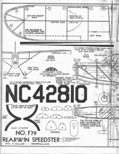 Rearwin Speedster F-79 model airplane plan
