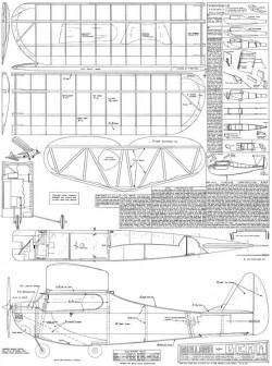 Guillows Trixter Beam model airplane plan