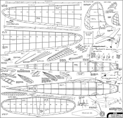 Gull 1940 Comet model airplane plan