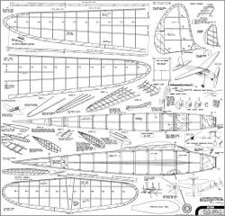 Gull 1940 Comet model airplane plan