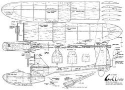 GulliverRC model airplane plan