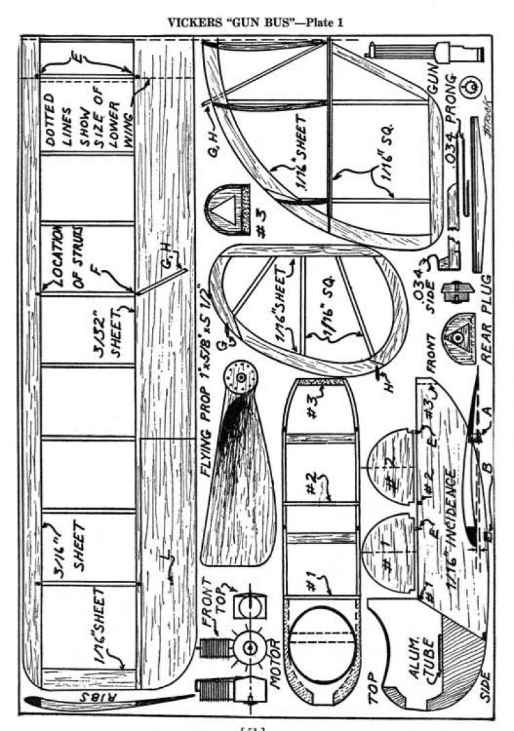 Gun Bus model airplane plan