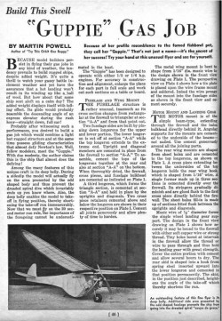 Guppie 70in model airplane plan