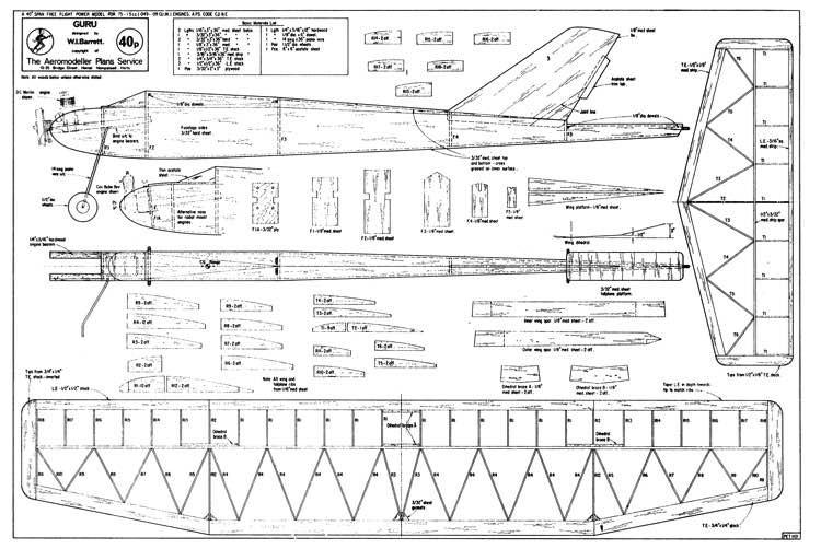 Guru model airplane plan