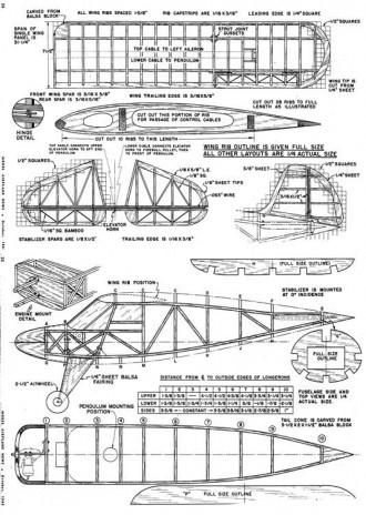 Gyrene model airplane plan