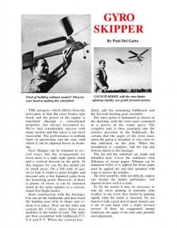 GyroSkipper model airplane plan