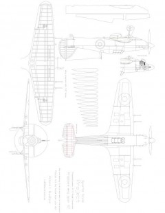 HAWKER Model 1 model airplane plan