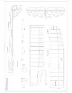HLG Model 1 model airplane plan