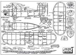 HM-300 model airplane plan