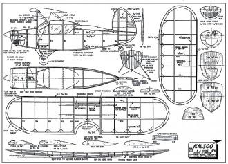 HM-300 model airplane plan