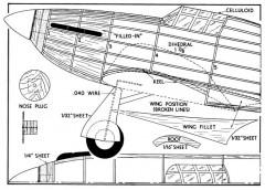 HURRI 1 model airplane plan
