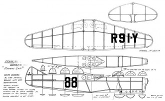Haines Mystery Ship model airplane plan