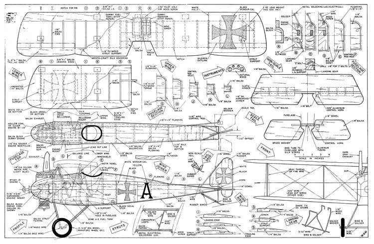 Halberstadt D-II model airplane plan