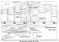 Half Fast model airplane plan