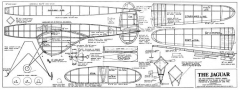 Half Jaguar model airplane plan