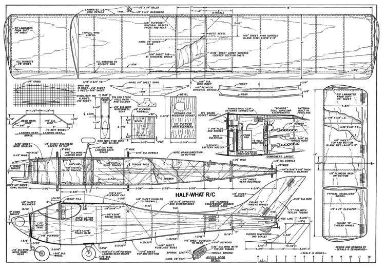 Half What. model airplane plan