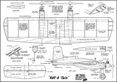 HalfaTwin model airplane plan