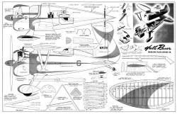 Hall Racer model airplane plan