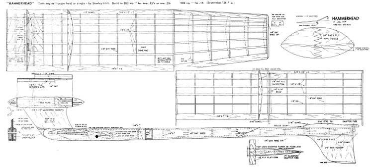 Hammerhead fs model airplane plan