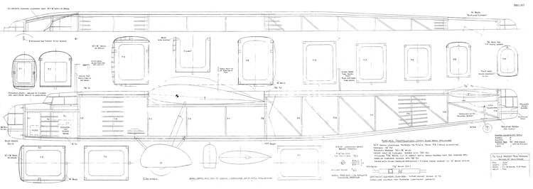 Handley-Page Harrow 66in model airplane plan