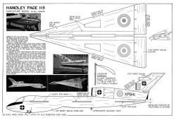Handley Page 115-Aeromodeller-09-69 model airplane plan