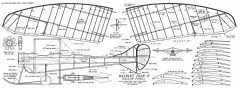 Handley Page E model airplane plan