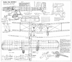 Handley Page Heyford model airplane plan