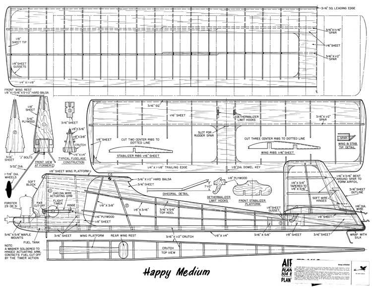 Happy Medium model airplane plan