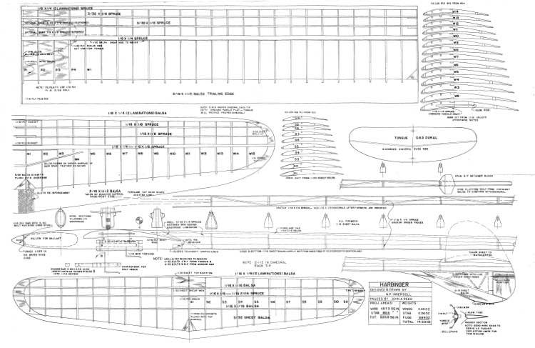 Harbinger model airplane plan