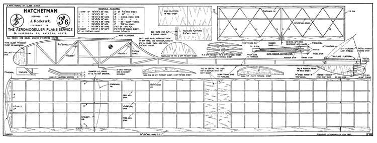 Hatchetman model airplane plan