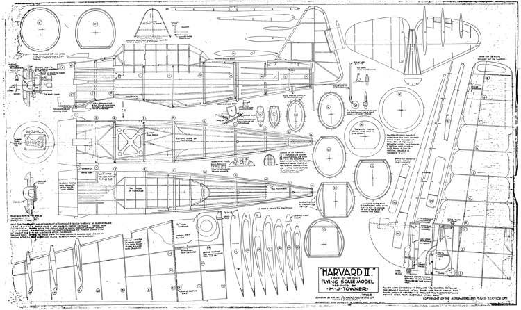 Havard II Towner model airplane plan