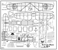 Hawk P6-E model airplane plan