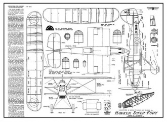 Hawker Super Fury model airplane plan